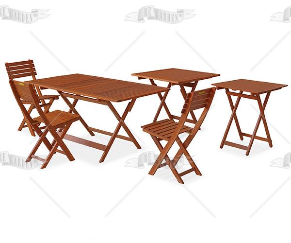 Caprifoglio - Tavolo quadro pieghevole 80x80 - 3